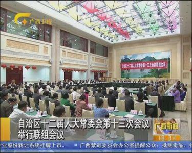 自治区十二届人大常委会四十三次会议举行联组会议