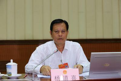 杨道喜主持自治区十二届人大常委会第十八次会议第一次全体会议