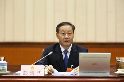 彭清华主持自治区十二届人大常委会第二十二次会议第二次全体会议