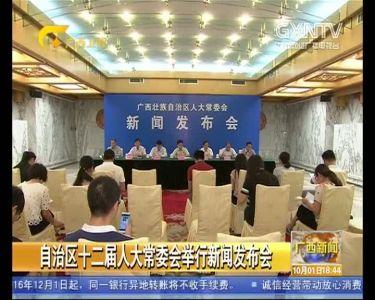 【视频】自治区十二届人大常委会举行新闻发布会