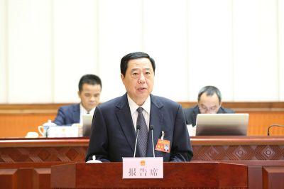 韩元利作关于《授权自治区人民政府提前发行新增政府债券的决定(草案)》的审查报告