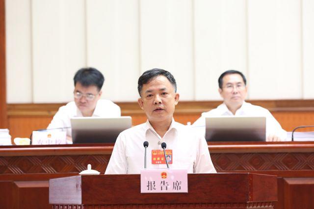 叶俊茂作关于自治区十三届人大四次会议主席团交付审议的第9、10号议案审议结果的报告