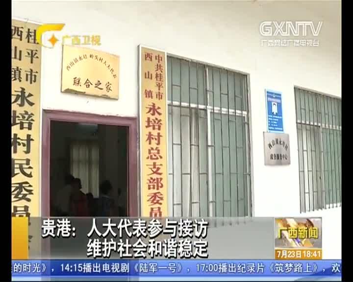 【视频】贵港:人大代表参与接访 维护社会和谐稳定
