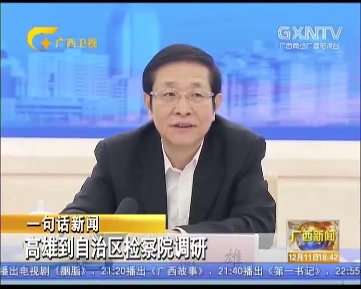 【视频】高雄到自治区人民检察院调研