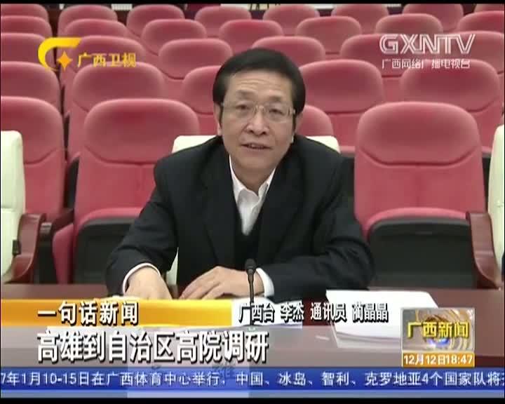【视频】高雄到自治区高级人民法院调研
