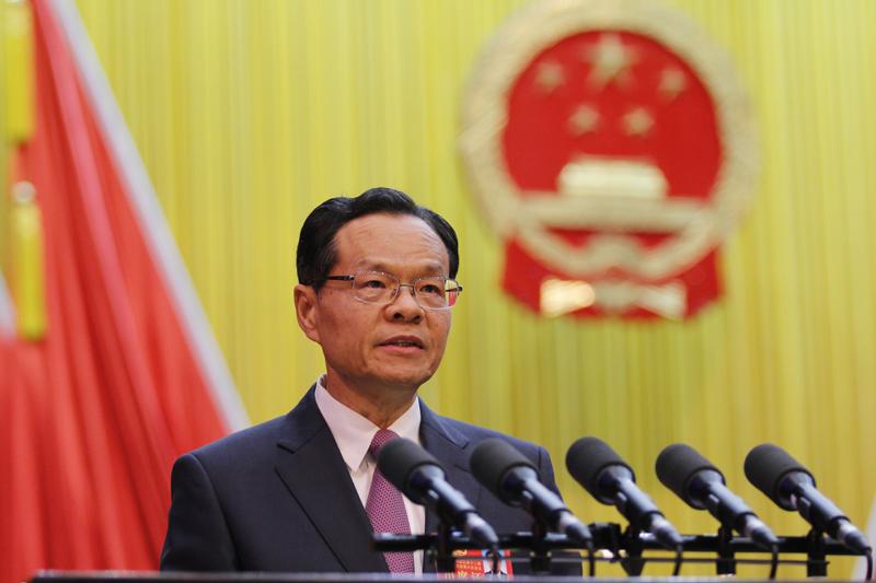 自治区主席陈武作政府工作报告