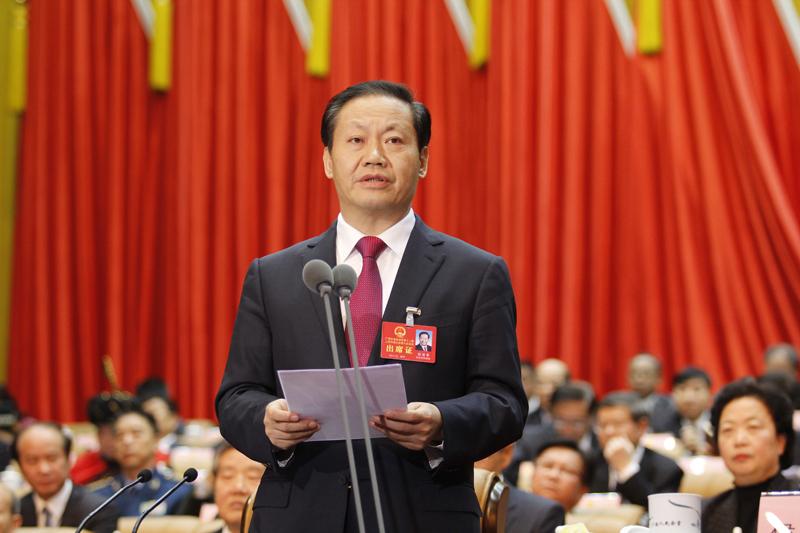 大会主席团常务主席、执行主席彭清华主持开幕大会