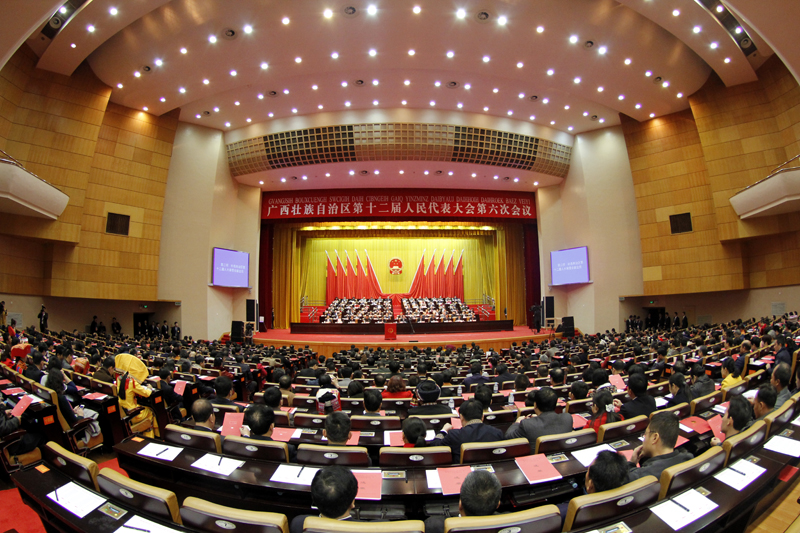 自治区十二届人大六次会议举行第三次全体会议