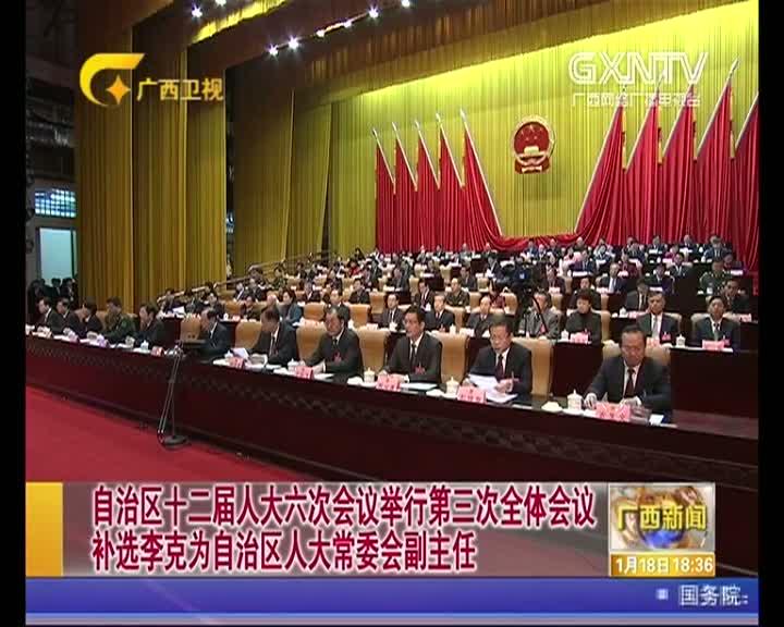 【视频】自治区十二届人大六次会议举行第三次全体会议