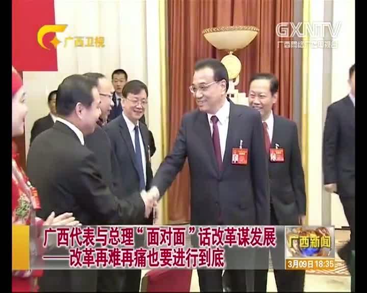 """【视频】广西代表团与总理""""面对面""""话改革谋发展――改革再难再痛也要进行到底"""