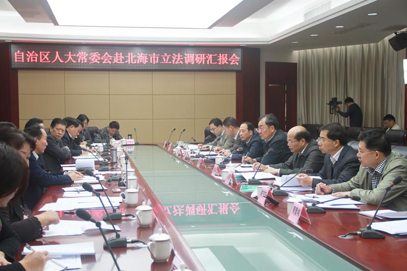 自治区人大常委会副主任王跃飞赴北海市开展立法调研