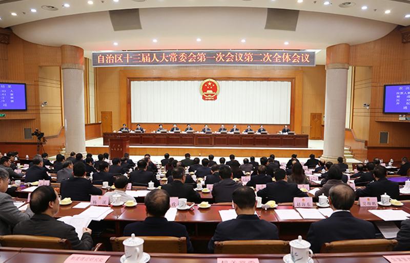 自治区十三届人大常委会第一次会议召开