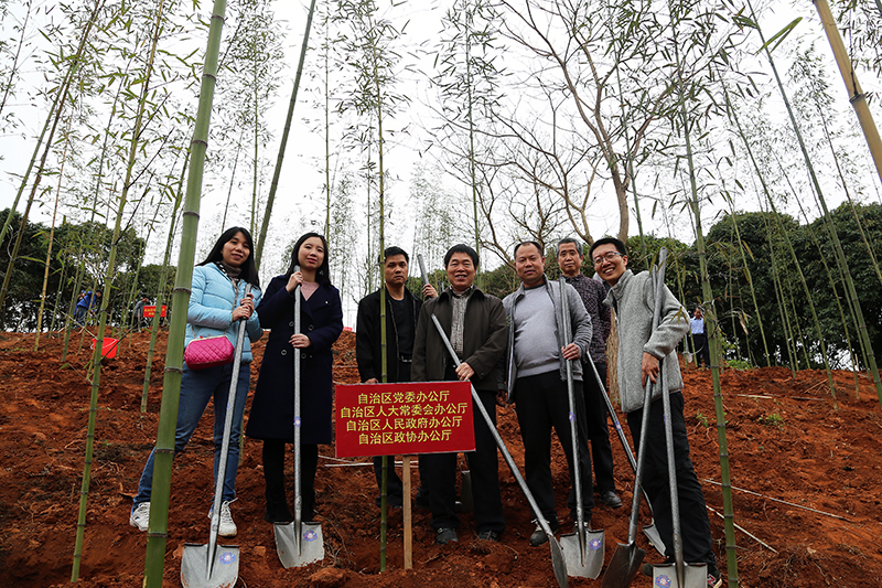 常委会机关派人参加2018年党政军领导义务植树活动
