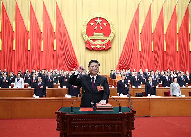 习近平膺选国家主席、中央军委主席