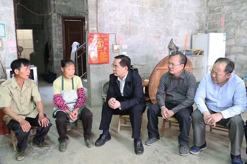 自治区人大常委会秘书长李国坚率队赴德保县调研脱贫攻坚工作