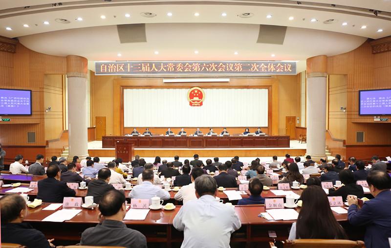 自治区十三届人大常委会第六次会议闭会