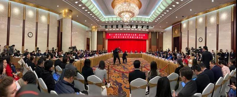 抢先看!广西代表团媒体开放日吸引众多中外记者