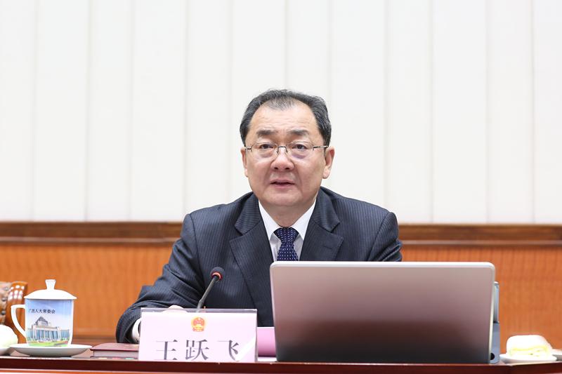 王跃飞主持自治区十三届人大常委会第八次会议