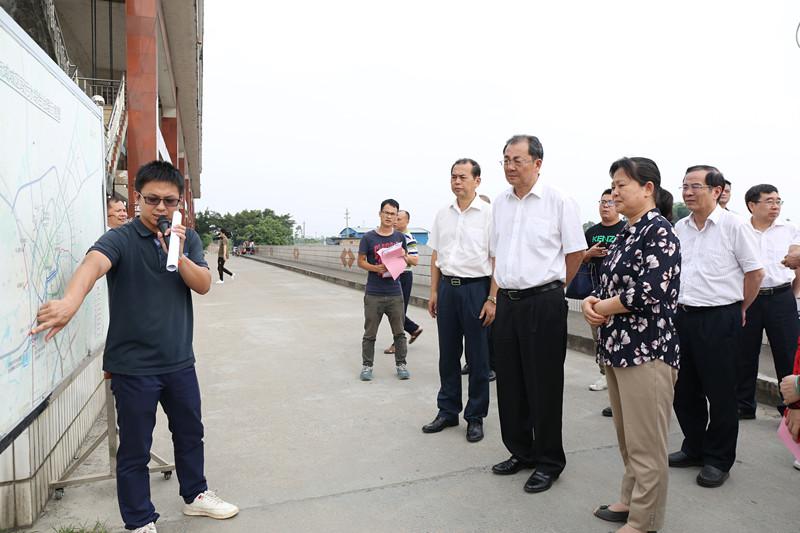 王跃飞率自治区人大常委会水污染防治法执法检查组赴玉林检查