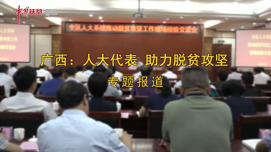 【中国扶贫网视】看一看广西各级人大代表给贫困地区带来的新变化