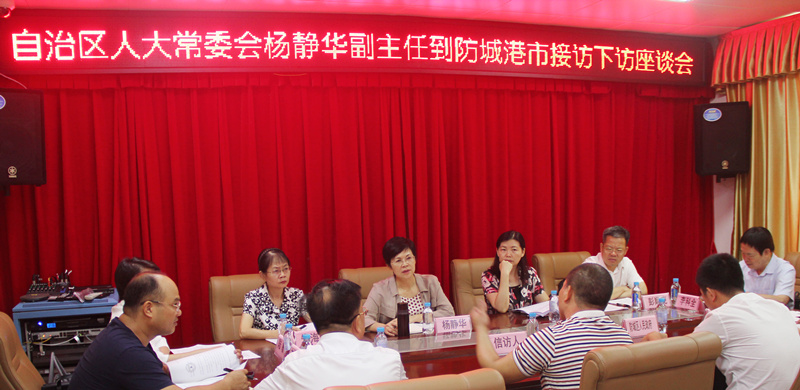 杨静华副主任到防城港市接待人民群众来访