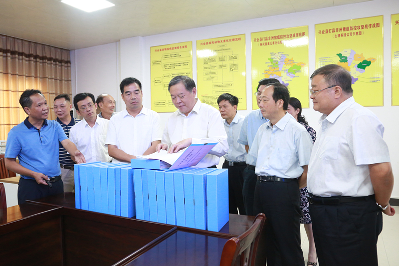 张秀隆率队赴藤县桂平博白兴业 开展第09号代表议案办理和非洲猪瘟防控工作情况调研