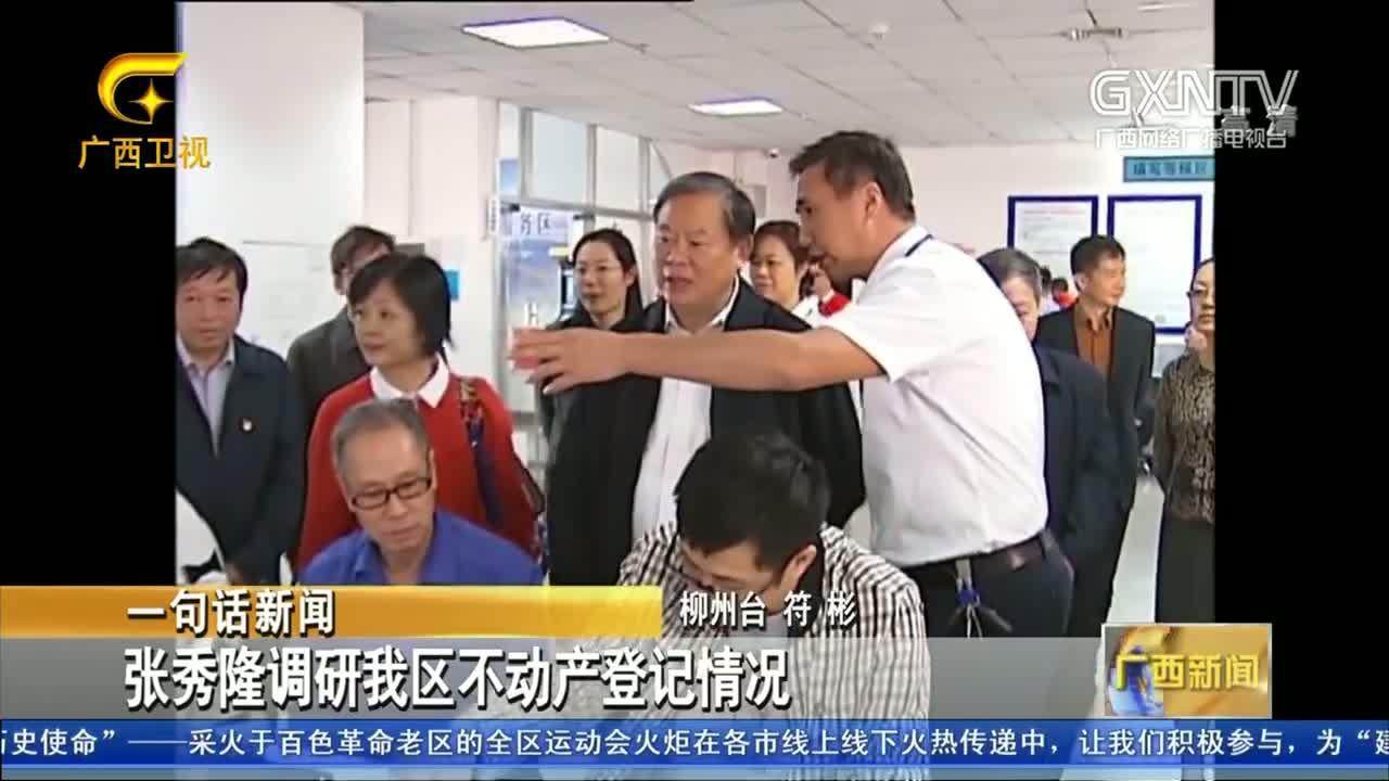 【视频】张秀隆调研我区不动产登记情况