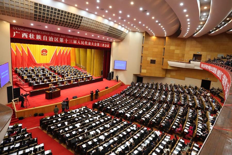 自治区十三届人大三次会议举行第三次全体会议