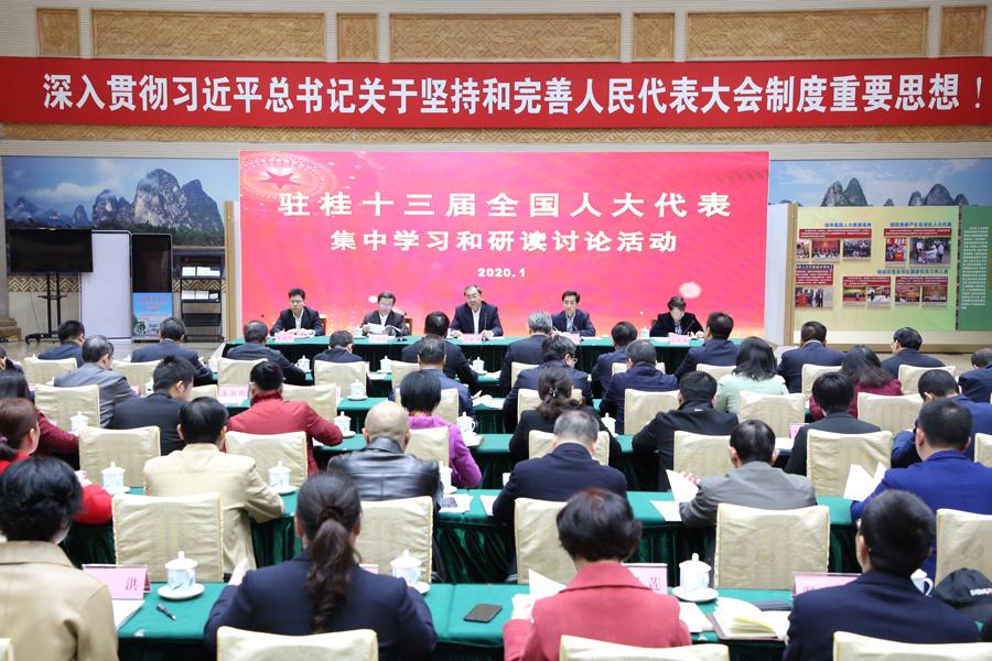 驻桂全国人大代表集中学习研讨民法典草案