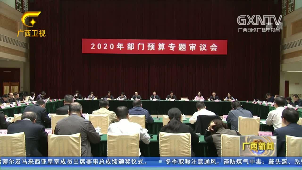 【视频】自治区召开2020年部门预算专题审议会