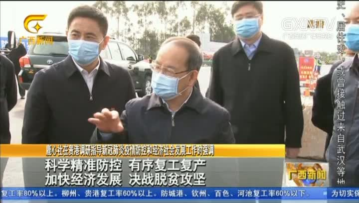 【视频】鹿心社在贵港调研指导新冠肺炎疫情防控和经济社会发展工作